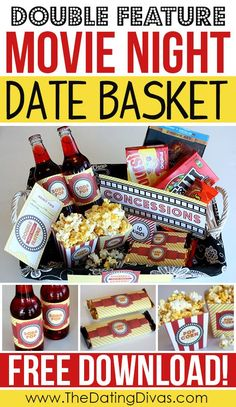 Free printable give date night for a wedding gift matching gifts lots of free printables and fun ideas to make your at home movie date night night extra special negle Gallery
