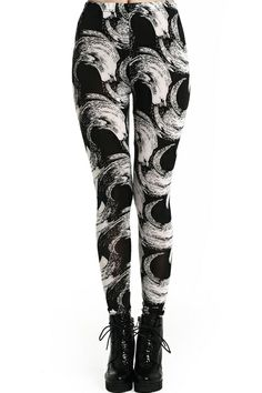 Tornado Print Leggings. Description Leggings, crafted from soft-touch fabric, featuring cartoon and letters print, a stretchy waist, and all in a soft-touch stretch fit. Fabric Cotton,Spandex. Washing Cool Hand Wash. #Romwe