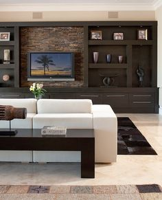 Living Room Tv Wall Ideas Tv Decor Built Ins 69 Ideas - entertainment center ideas living room Living Room Modern, Home And Living, Small Living, Built In Entertainment Center, Entertainment Ideas, Built In Media Center, Tv Center, Entertainment Products, Plafond Design