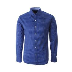 Look stylish in a variety of mens shirts available at FLATSEVEN. Get casual, formal and dress shirts for men in our collection. Casual Button Down Shirts, Casual Shirts, Button Dress, Dress For Success, Blue Polka Dots, Mens Suits, Shirt Dress, Stylish, Long Sleeve