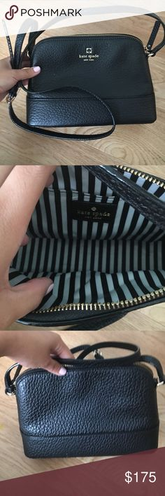 Kate spade NEW with tags Black southport ave kate spade bag. I bought it thinking I would use it. But it's a little too small for me. Authentic! I bought it from the store myself. It's pebbled leather with Kate's signature gold accents kate spade Bags Mini Bags