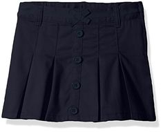 French Toast Girls' Pleat Button Front Scooter >>> See this awesome image @