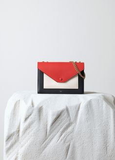 Pocket Flapbag in Chalk Smooth Calfskin - Céline. Maryam · Celine Fall 2014 fa734c28ea97a