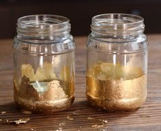 Gold Leaf Candle Jars - The Crafted Life