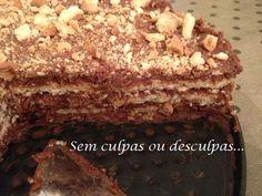 Bolo de Bolacha de Chocolate e Côco