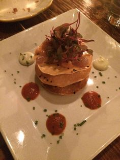 Cask Bar + Kitchen, NYC #tuna #salmon #tartare