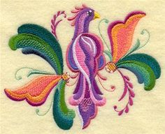 Machine Embroidery Designs at Embroidery Library! - Rosemaling Wings