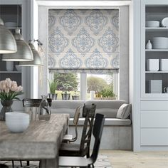 Chantilly Sapphire Roman Blind from Blinds 2go