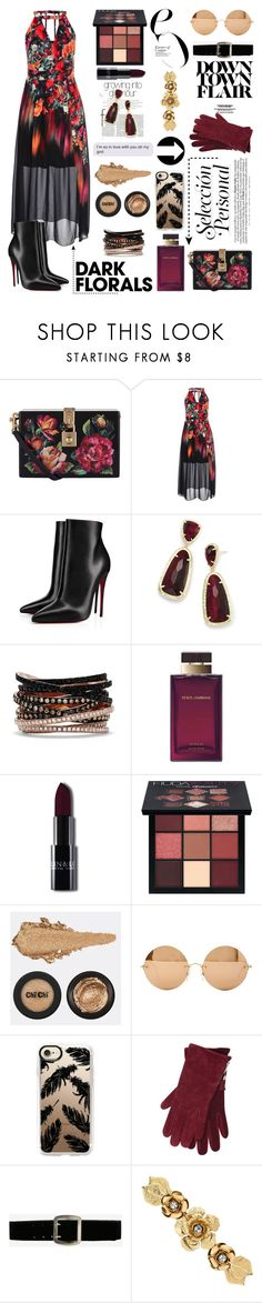 """""""Dang okay"""" by bich-what ❤ liked on Polyvore featuring Dolce&Gabbana, City Chic, Christian Louboutin, Kendra Scott, Effy Jewelry, Huda Beauty, Victoria Beckham, Casetify, M&Co and Express"""