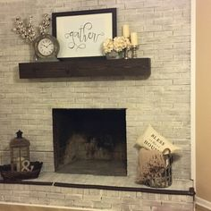 """This is a custom built fireplace place mantel. Similar to the other mantels listed but with a """"beefier"""" front. The front height measures at 7"""" rather than 5 1/2"""". Made out of pine wood slabs, the mant"""