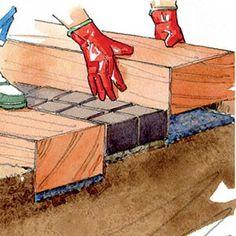 Réalisation d'un escalier extérieur en bois et pavés (M. Loppé - Rustica) Hillside Garden, Garden Steps, Camping Gifts, Creative Gifts, Pathways, Own Home, Backyard Landscaping, Stairs, The Incredibles