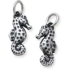 A symbol of the sea, this elegantly designed seahorse charm is intricately crafted in sterling silver or 14k gold. #jamesavery #jewelry #seahorse