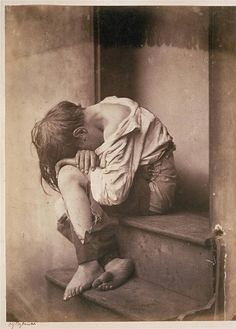 Homeless, ca 1860, by Oscar Rejlander. The situation is just as true in 2013. Help them.