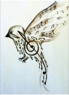 Hmm switch it to an owl keep the music notes. That'd be an awesome chest tat