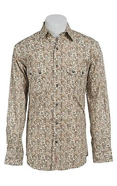 Rafter C Cowboy Collection Men's L/S Western Snap Shirt RC1440203 | Cavender's