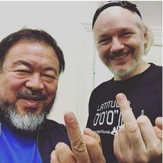 #CISA #MusicFreedom Ai Weiwei and Julian Assange Hung Out in London and Grabbed This Epic Selfie http://time.com/4037994/ai-weiwei-julian-assange-instagram/ Chinese Democracy - Guns N' Roses...