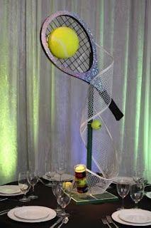 Centerpieces, SRO Events, Inc. Tarzana, CA Tennis & Skateboarding Tennis Cake, Tennis Party, Sports Party, Tennis Decorations, Sports Centerpieces, Candy Centerpieces, Centerpiece Ideas, Theme Sport, Tennis Crafts