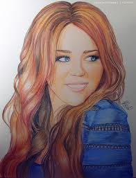drawing of miley cyrus - Google Search