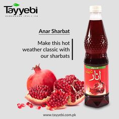 Make this hot weather classic with our sharbats. Visit us at http://tayyebi.com.pk/sharbat/ #Tayyebi #Sharbats #AnarSharbat #AnarSharbatbyTayyebi