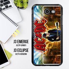 Acdc Logo Wallpaper Y1485 Samsung Galaxy J3 Emerge, J3 Eclipse , Amp Prime 2, Express Prime 2 2017 SM J327 Case