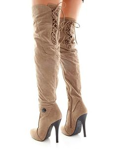 Fredericks lace up knee high boots