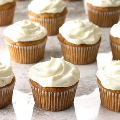Turn the traditional hummingbird cake—flavored with pineapple, bananas and walnuts—into a bite-sized treat with these moist cupcakes. —Jessie Oleson, Santa Fe, New Mexico Hummingbird Cupcakes, Hummingbird Cake Recipes, Cupcake Recipes, Baking Recipes, Dessert Recipes, Mini Cakes, Cupcake Cakes, Moist Cupcakes, Gourmet Cupcakes