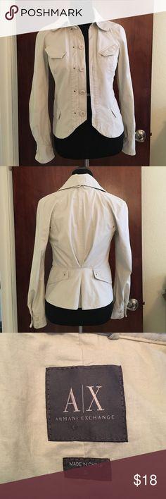 Armani Exchange 100% cotton coat size small Armani Exchange 100% cotton coat size small Armani Exchange Jackets & Coats