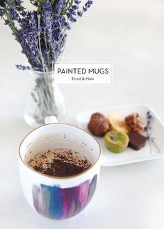 15 DIY HOLIDAY GIFTS – Painted Mugs