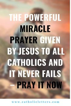 The Powerful Miracle Prayer Given by Jesus to all Catholics and it Never Fails – Pray it Now - Catholic Letters Catholic Prayers, Novena Prayers, Spiritual Prayers, Bible Prayers, Catholic Art, Spiritual Guidance, Prayer Verses, Faith Prayer, Prayers