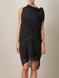 Pebble silk drape dress   Helmut Lang   Matchesfashion.com ($200-500) - Svpply