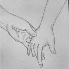 tekening handen in elkaar