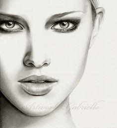 Image detail for -Kadın Yüzü Karakalem Resim, Charcoal Drawing Female Face ...