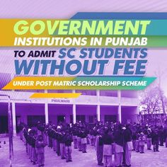 Punjab Government has issued instructions to all Government Educational Institutions to ensure admission of Scheduled Castes students without charging any fee under Post Matric Scholarship scheme. A communique in this regard has been sent to all institutions by Welfare Department. This decision has been taken with an aim to ensure the uninterrupted study to SC students by not charging any fee at the time of admission. #progressivepunjab #akalidal