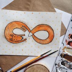 Foxy infinity  . . #arts_gallery #arts_help #art_empire #foxart #foxy #illustration