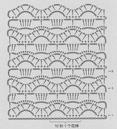 Stitch crochet pattern.....I THINK I SEE FEATHER & FAN