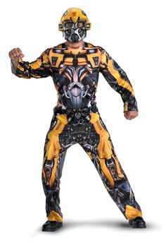 Transformers Bumblebee Movie Classic Adult Costume - $38.95