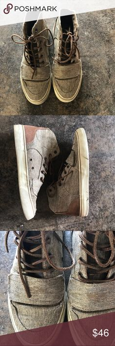 Creative recreation sneakers Brown/light brown shoes. High tops, shoes laces are faux leather 9/10 condition Creative Recreation Shoes Sneakers