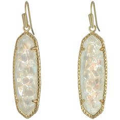 Kendra Scott Layla Earrings (Gold/Crushed Ivory Mother-of-Pearl)... ($65) ❤ liked on Polyvore featuring jewelry, earrings, 14k gold earrings, kendra scott jewelry, gold jewelry, 14k gold jewelry and 14k yellow gold earrings