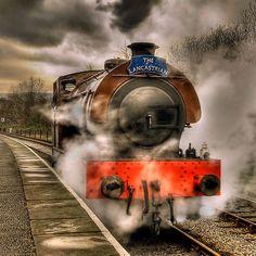 'Steam Locomotive, East Lancs Railway' by Steve Liptrot Old Steam Train, Wonderful Machine, Train Art, Old Trains, Photo Boards, Steam Engine, Steam Locomotive, Train Tracks, Cool Photos