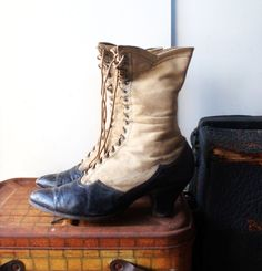 Antique High Lace Boots  Early 1900s by SecondWindVintage on Etsy