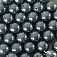 Charcoal Grey Faux Pearl Beads in for Crafts & Décor. Decorate, use as vase filler or any other practical uses! Available as a pack of 120 loose beads. Gold Vases, Clear Vases, White Vases, Black Vase, Green Vase, Vase Centerpieces, Vases Decor, Art Nouveau, Paper Vase
