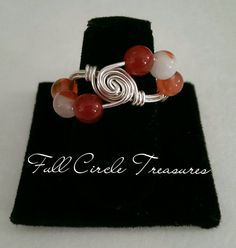 Hey, I found this really awesome Etsy listing at https://www.etsy.com/listing/231475799/silver-agate-ring-red-stripe-agate-ring