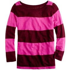 Rugby-Stripe Boatneck Top ($35) ❤ liked on Polyvore
