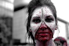 Panoramio - Photo of zipper face zombie Zombie Makeup, Halloween Face Makeup, Zipper Face, Latex, Hair Beauty, My Style, Blood, Costumes, Holidays