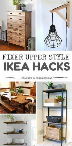 Are you looking to add Fixer Upper Style charm to your home but don't want to spend too much money? These clever DIY IKEA hacks are just what you need to get that farmhouse/industrial look you've always dreamed of!