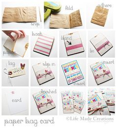 Life Made Creations: Paper Bag Card: the tutorial