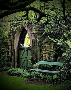 Garden gateway, Italy