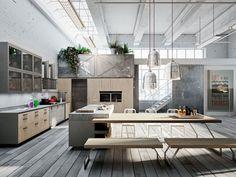 Code Evolution est une cuisine vintage au style industriel, avec des références chères aux amateurs du style nordique.IDENTITÉ VINTAGECode est l'expression des tendances urbaines les plus récentes: des meubles compacts et résistants...