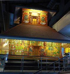 Mural at Sri Guruvayurappan Temple, Chinmaya Tapovan, Palakkad, Kerala,.jpg
