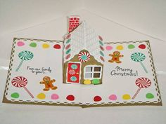 Gingerbread house pop-up card by MsSusy - Cards and Paper Crafts at Splitcoaststampers